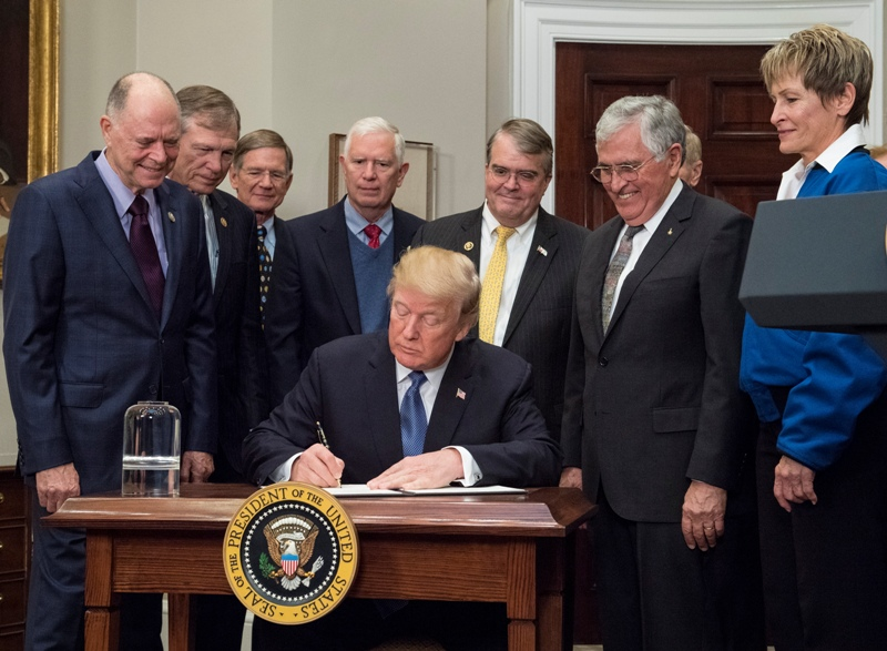 US President Donald Trump has signed a space policy directive