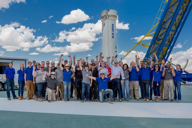 Blue Origin has successfully launched and then landed its New Shepard rocket