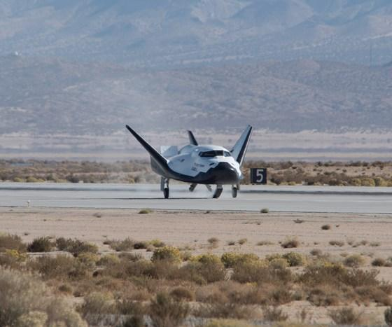 Dream Chaser, during its free-flight test.